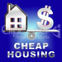 Cheap Housing House Shows Real Estate 3d Rendering