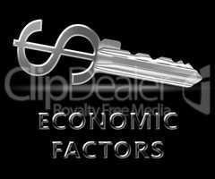 Economic Factors Means Financial Features 3d Illustration
