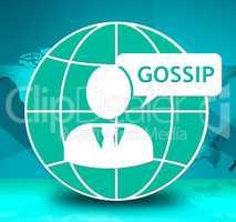 Gossip Conversation Shows Chat Conference 3d Illustration