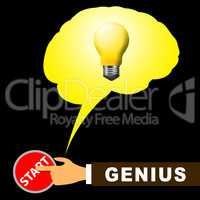 Genius Brain Means Specialist And Guru 3d Illustration