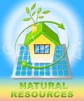 Natural Resources Design Displays Nature Assets 3d Illustration