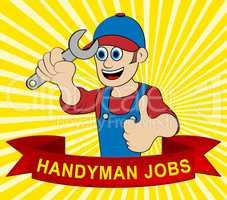 Handyman Jobs Displays House Repair 3d Illustration