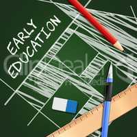 Early Education Showing Kids School 3d Illustration