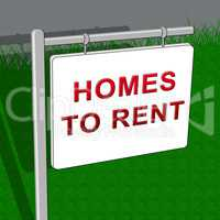 Homes To Rent Shows Real Estate 3d Illustration