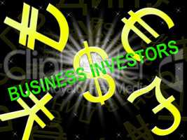 Business Investors Meaning Stocks Investor 3d Illustration
