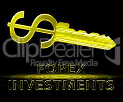 Forex Investments Meaning Foreign Exchange 3d Illustration