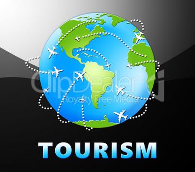 Tourism Plane Shows Go On Leave 3d Illustration
