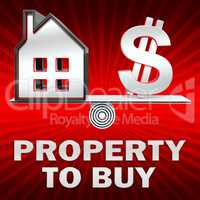 Property To Buy Displays Sell Houses 3d Illustration