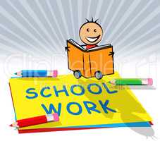 School Work Displays Lesson Assignment 3d Illustration