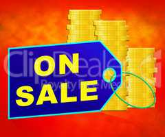 On Sale Indicates Offers Promotional 3d Illustration