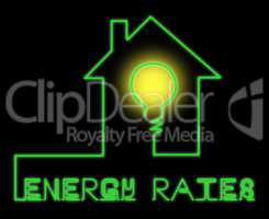 Energy Rates Shows Electric Power 3d Illustration
