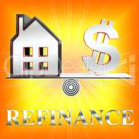 House Refinance Means Equity Loan 3d Rendering
