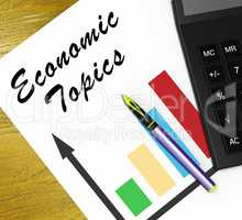 Economic Topics Meaning Economical Subjects 3d Illustration