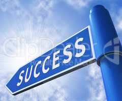 Success Sign Meaning Progress Victory 3d Illustration