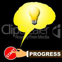 Progress Light Shows Improvement Growth 3d Illustration