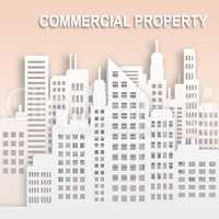 Commercial Property Represents Buildings Office Property 3d Illu