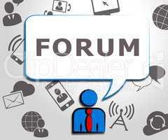 Forum Icons Represent Social Media 3d Illustration