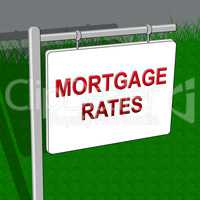 Mortgage Rates Indicating Home 3d Illustration