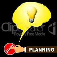 Planning Light Representing Objectives And Aspirations 3d Illust