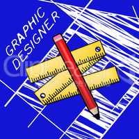 Graphic Designer Representing Designing Job 3d Illustration