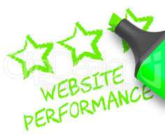 Website Performance Means Quality Report 3d Illustration