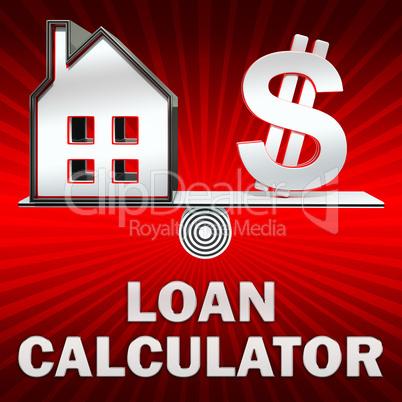Loan Calculator Displays Fund Loans 3d Illustration