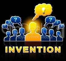 Invention People Means Invents And Innovation 3d Illustration