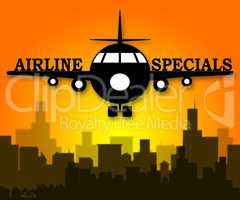 Airline Specials Shows Airplane Promotion 3d Illustration