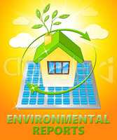 Environment Reports House Shows Nature 3d Illustration