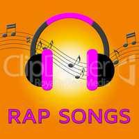 Rap Songs Means Spitting Bars 3d Illustration