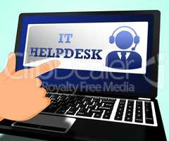 IT Helpdesk Means Information Technology 3d Illustration