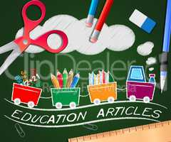 Education Articles Indicating Learning Information 3d Illustrati