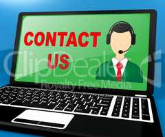Contact Us Meaning Customer Service 3d Illustration