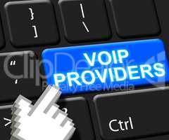 Voip Providers Key Showing Internet Voice 3d Illustration