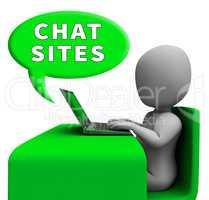 Chat Sites Man Meaning Discussion 3d Illustration