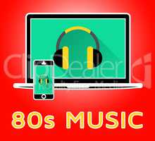 Eighties Music Shows Acoustic Songs 3d Illustration