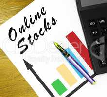 Online Stocks Meaning Internet Investing 3d Illustration