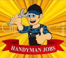 Handyman Jobs Shows House Repair 3d Illustration