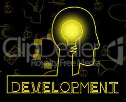 Development Brain Means Growth Progress And Evolution