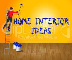 Home Interior Ideas Shows House 3d Illustration