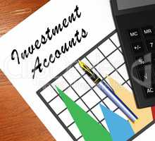 Investment Accounts Meaning Money Investing 3d Illustration