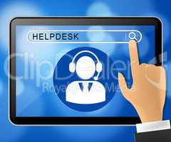 Helpdesk Online Representing Faq Advice 3d Illustration