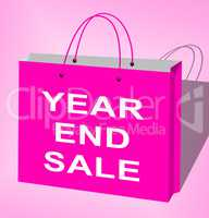 Year End Sale Displays Retail Clearance 3d Illustration