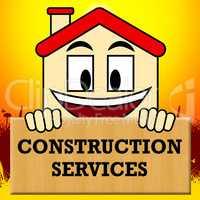 Construction Services Shows Building Work 3d Illustration