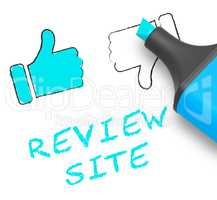 Review Site Thumbs Up Means Website 3d Illustration