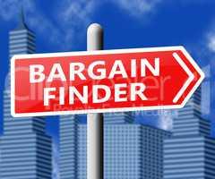 Bargain Finder Showing Internet Comparison 3d Illustration