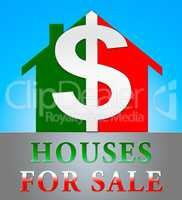 Houses For Sale Meaning Sell House 3d Illustration