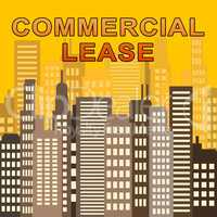 Commercial Lease Describes Real Estate Offices 3d Illustration