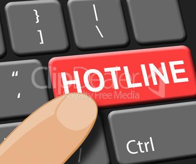 Hotline Key Shows Online Help 3d Illustration