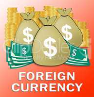 Foreign Currency Meaning Forex Rate 3d Illustration